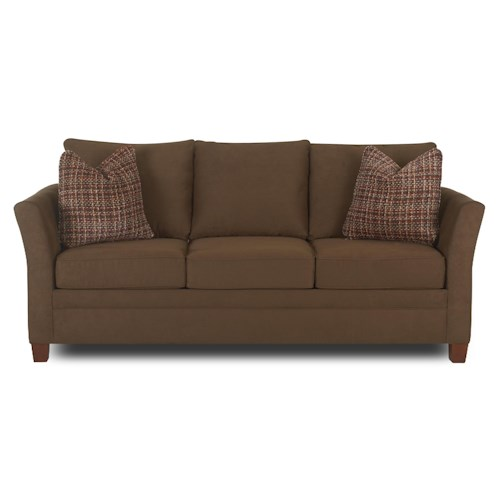 Klaussner Taylor  Sofa with Accent Pillows