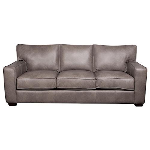 Elliston Place Telford 100% Leather  Sofa