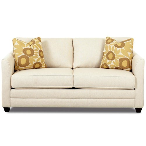 Small Sectional Sofa Clearance: Klaussner Tilly Small Sleeper Sofa With Full Size Mattress