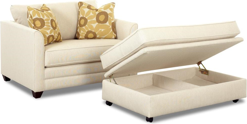 Storage Ottoman with Matching Twin Sleeper