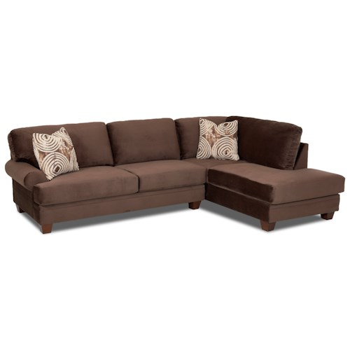 Elliston Place Tinley Two Piece Sectional Sofa with RAF Sofa Chaise