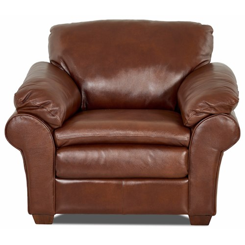 Elliston Place Tipton Casual Chair with Pillow Arms