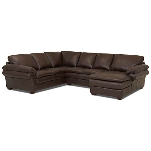 Elliston Place Tipton Casual 3 Piece Sectional with Right Arm Facing Chaise