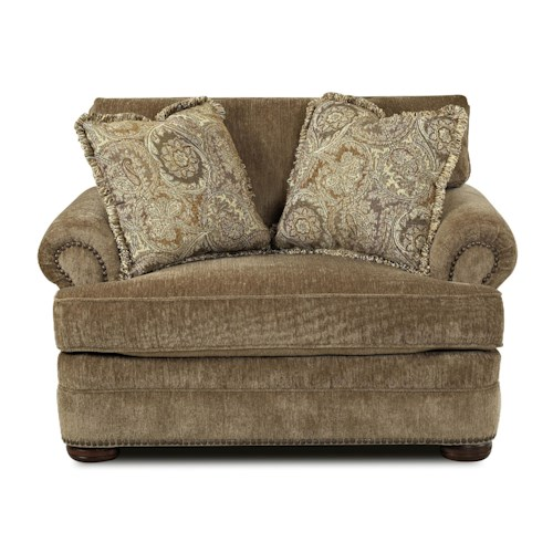 Elliston Place Tolbert Traditional Chair with Nailhead Trim
