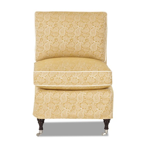 Elliston Place Trixie Traditional Armless Accent Chair with Slipcover