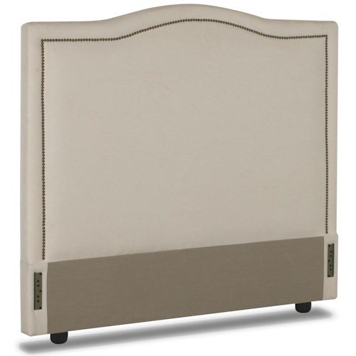 Elliston Place Upholstered Beds and Headboards Full Upholstered Headboard with Nail Head Trim