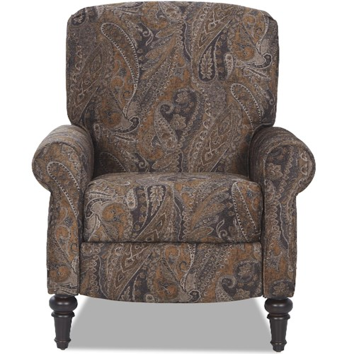 Elliston Place Upton Traditional High Leg Recliner with Sock Rolled Arms