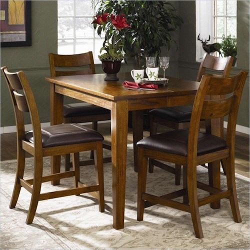 Morris Home Furnishings Tuscon 5-Piece Counter Height Table Set with 4 Stools