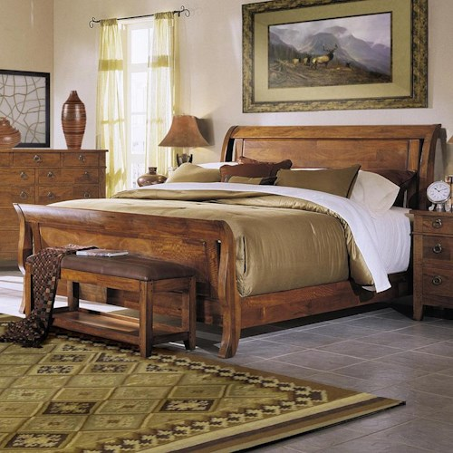 Morris Home Furnishings Tuscon King Sleigh Bed