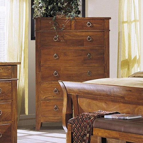Morris Home Furnishings Tuscon 7 Drawer Chest with Tapered Feet