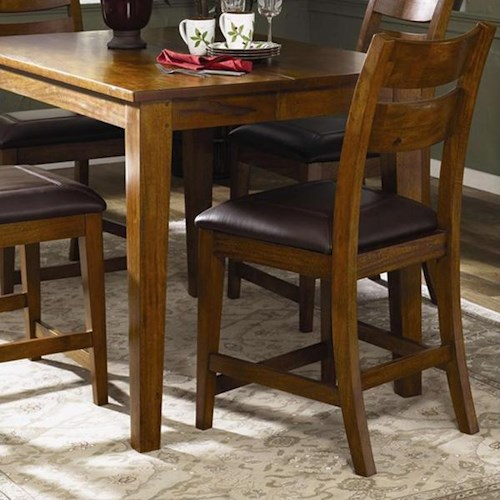 Morris Home Furnishings Tuscon Bar Stool with Upholstered Seat