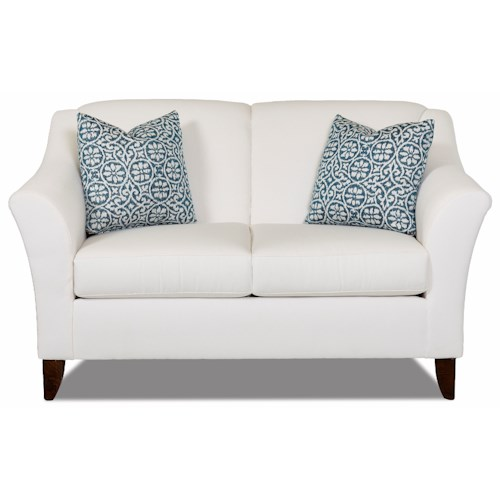 Elliston Place Valhalla Contemporary Love Seat with Flared Arms
