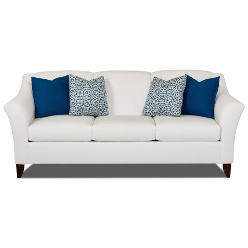 Elliston Place Valhalla Contemporary Sofa with Flared Arms