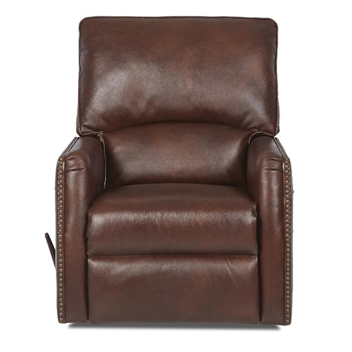 Elliston Place Venice Traditional Gliding Reclining Chair with Nail Head Trim