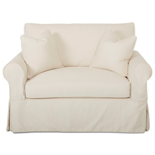 Elliston Place Victoria Victoria Twin Sleeper Chair with Slipcover