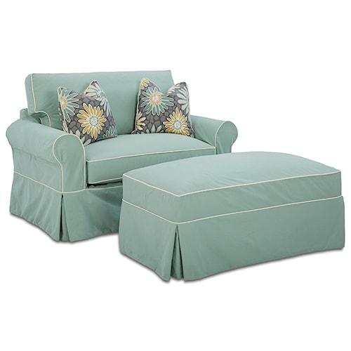 Elliston Place Victoria Sleeper Chair and Storage Ottoman Set