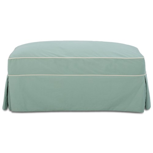 Elliston Place Victoria Victoria Storage Ottoman with Skirted Slipcover