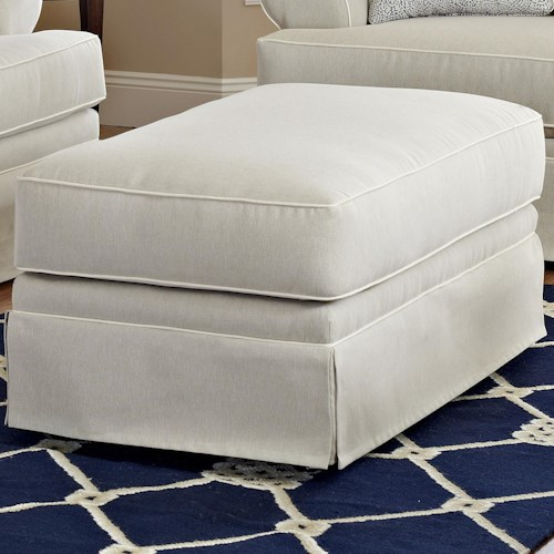 Elliston Place Westerly Ottoman with Welting Detail