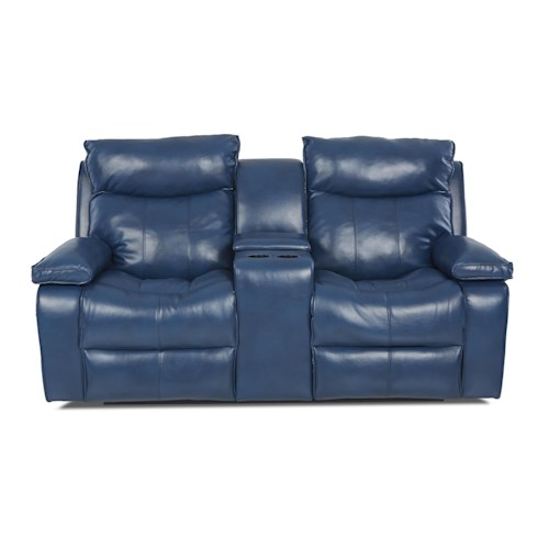 Elliston Place Wilson Contemporary Console Reclining Loveseat
