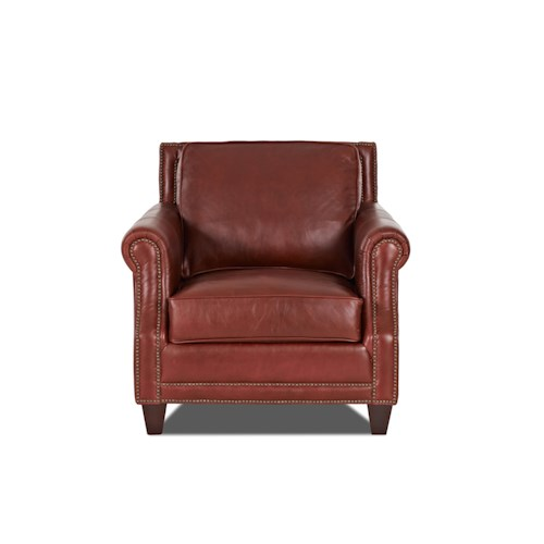 Elliston Place York Classically Styled Chair with Nail Trim
