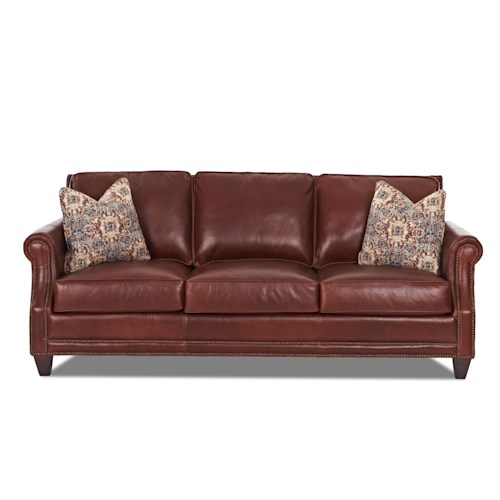 Elliston Place York Classically Styled Sofa with Nail Trim