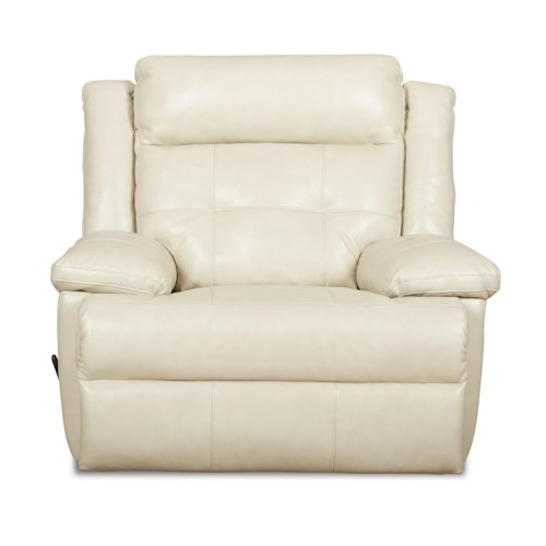 Elliston Place Zeus Transitional Swivel Gliding Reclining Chair with Tufted Back