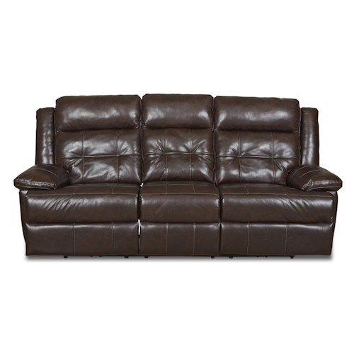 Elliston Place Zeus Transitional Reclining Sofa with Tufted Back