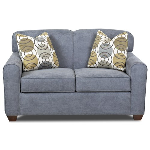Elliston Place Zuma  Contemporary Loveseat with Track Arms