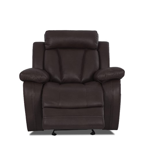 Klaussner International  Atticus-US Casual Gliding Recliner Chair