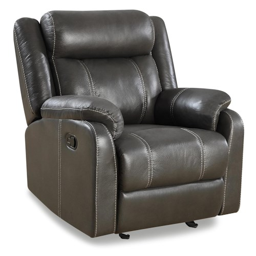 Klaussner International Valor Casual Gliding Recliner Chair