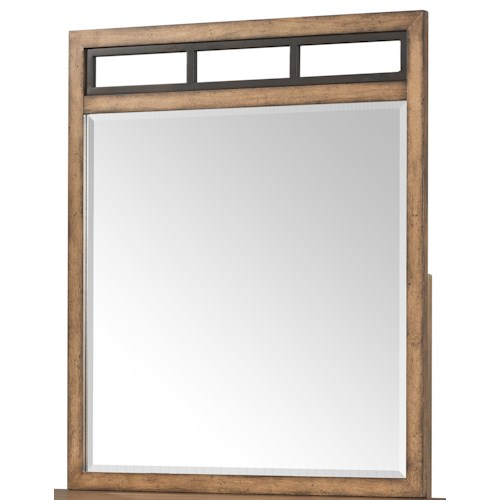 Belfort Basics Affinity Rectangular Dresser Mirror with Paneled Top