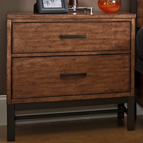 Klaussner International Affinity 2 Drawer Nightstand with Trestle Base