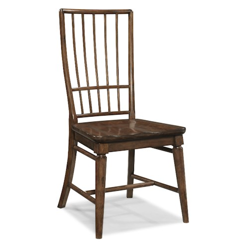 Easton Collection Blue Ridge Cherry Rake Back Side Chair