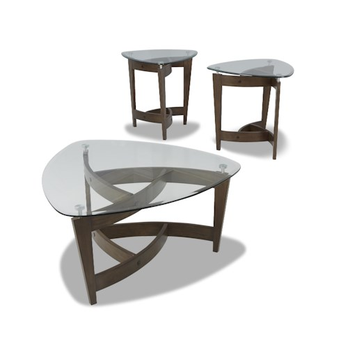 Klaussner International Caprice 3 Table Pack with 2 End Tables and 1 Cocktail Table