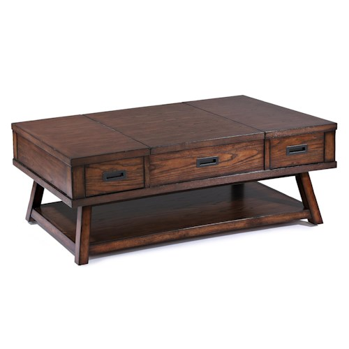 Klaussner International Elin Cocktail Table with Lift Top and Two Drawers