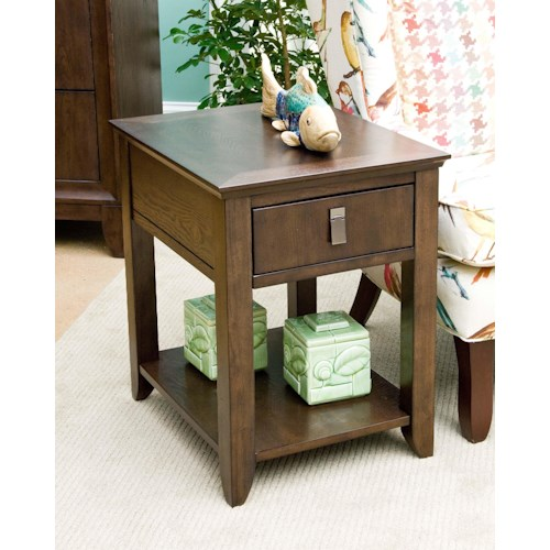 Morris Home Furnishings Falls Ave Contemporary Side Table