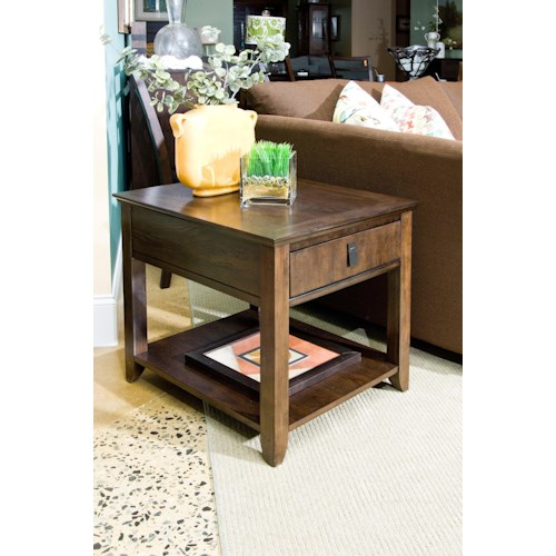 Morris Home Furnishings Falls Ave Contemporary End Table