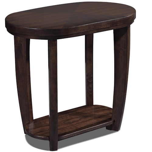 Klaussner International Hayden  Oval Chairside Table With 1 Shelf