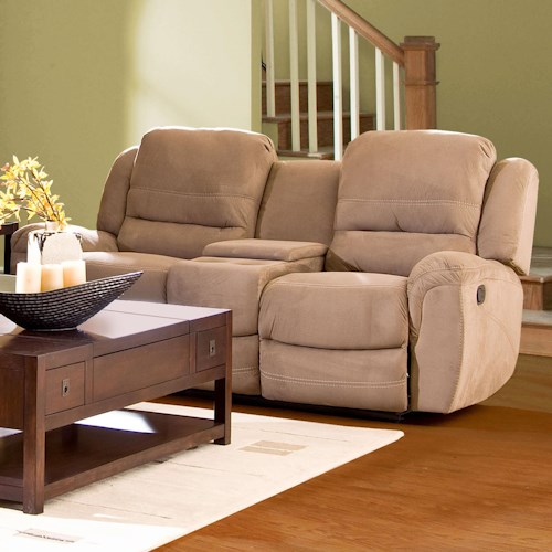Morris Home Furnishings Lazarus Casual Double Reclining Console Loveseat