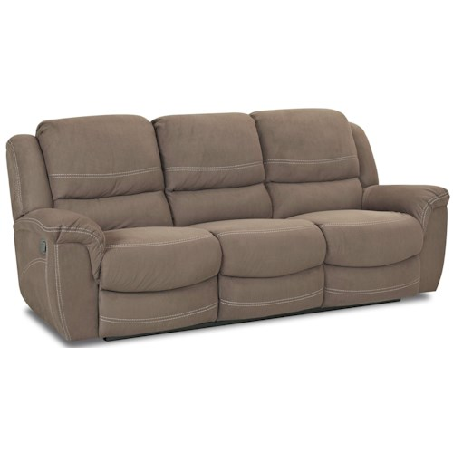 Morris Home Furnishings Lazarus Double Reclining Sofa with Drop Down Table