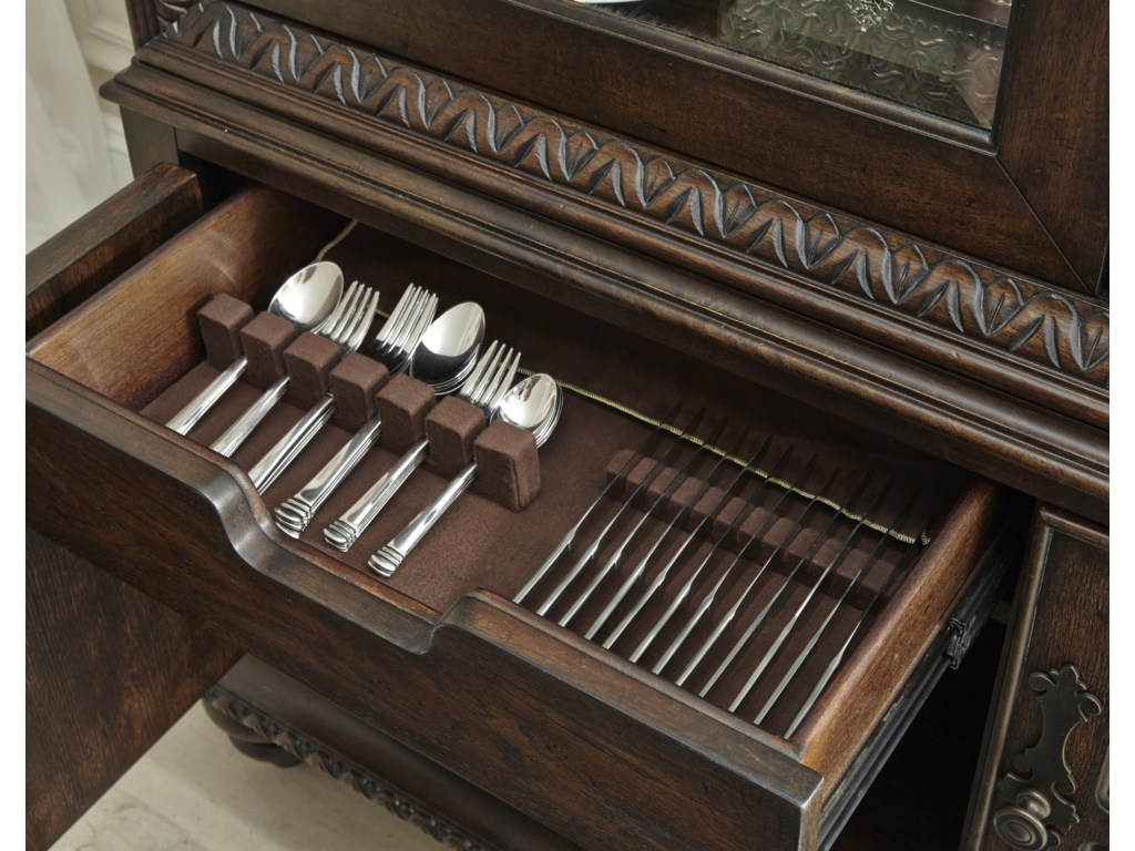 Drawer Equipped with Flatware Storage