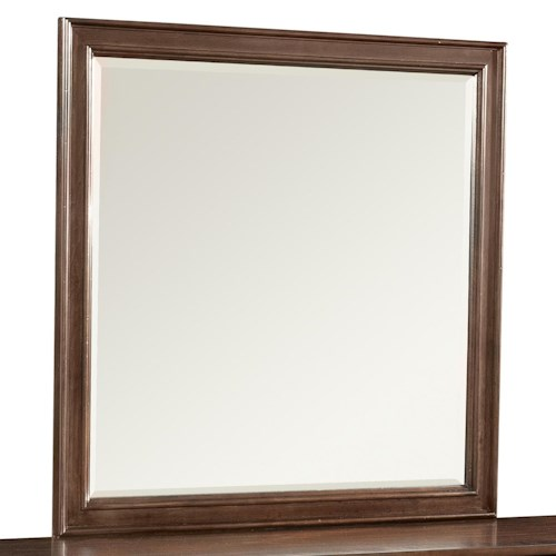 Klaussner International Parkview Dresser Mirror with Rounded Molding Trim