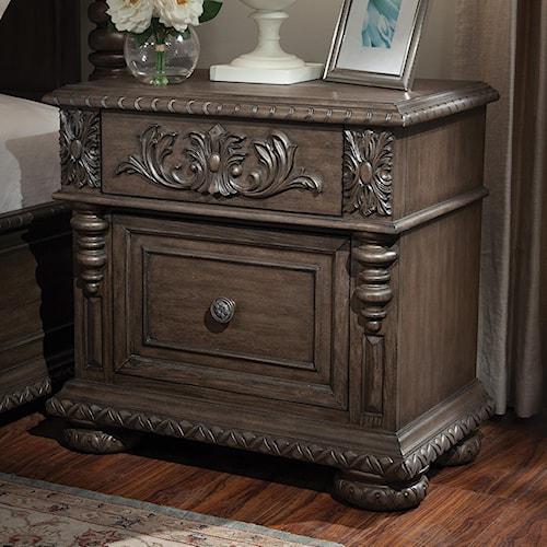 Belfort Basics Virginia Manor Night Stand with Decorative Molding and Bun Feet