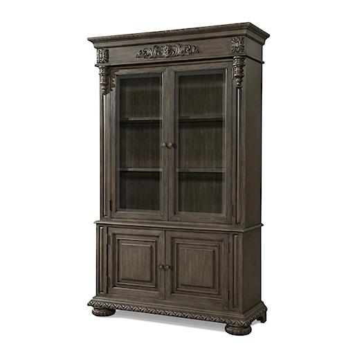 Belfort Basics Virginia Manor Buffet and Hutch with Door and Shelf Storage