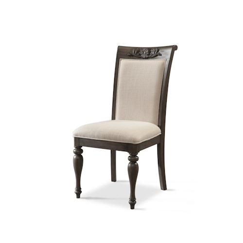 Belfort Basics Virginia Manor Side Chair with Upholstered Seat and Back