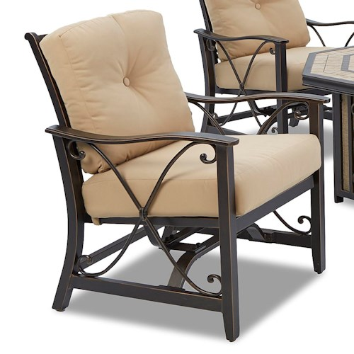 Klaussner Outdoor Embers Spring Chair with Back and Seat Cushions
