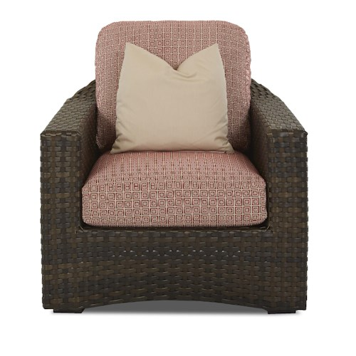 Klaussner Outdoor Cassley Chair with Reversible Cushion
