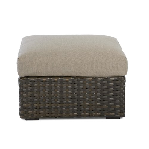 Klaussner Outdoor Cassley Ottoman with Drainable Cushion