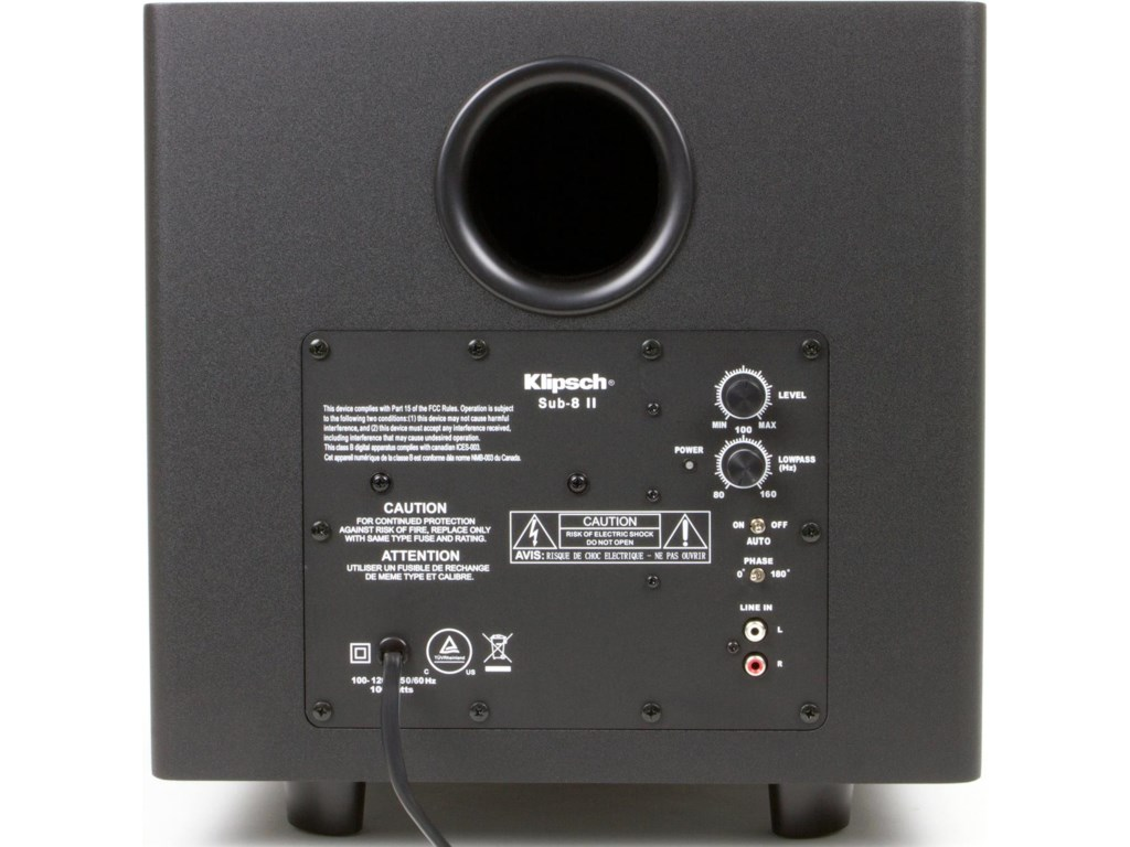 Rear View of Subwoofer