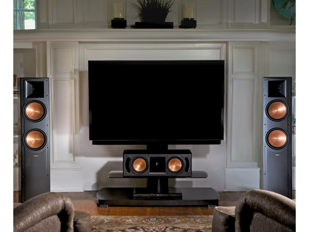 Two Floor Speakers Shown